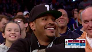 Madison Square Garden Gives Carmelo Anthony Standing Ovation