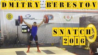 Dmitry Berestov - Snatch - 5th March 2016 Geraklion Weightlifting Cup