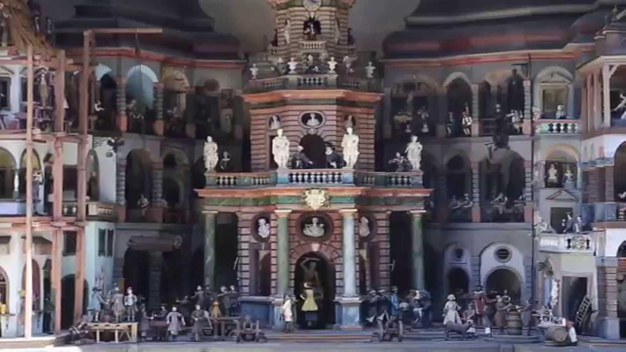 Hellbrunn Palace - Water powered Mechanical Theater - YouTube