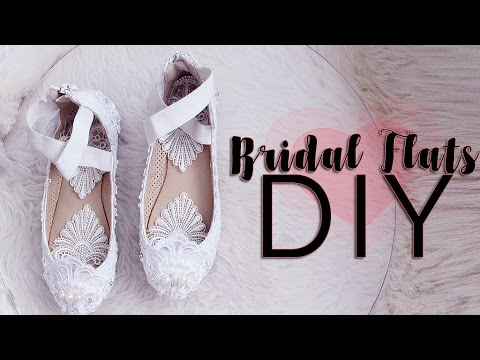 Bridal Ballet Flat DIY