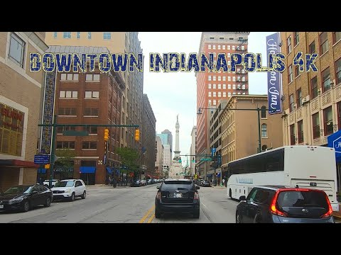 The Circle City: Downtown Indianapolis, Indiana 4K.
