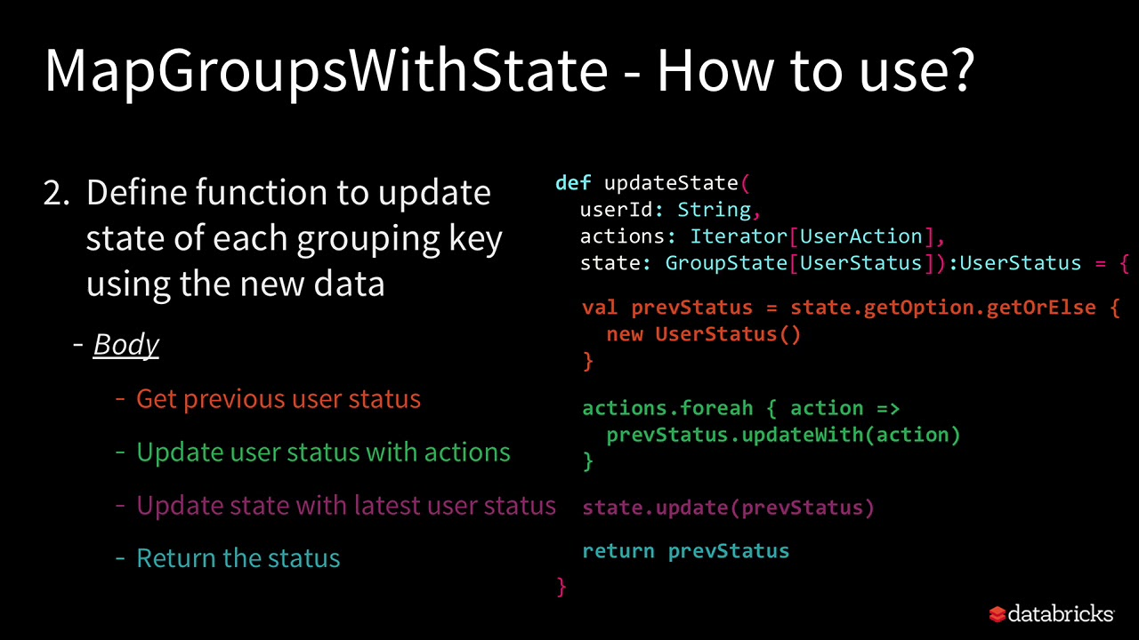 Deep Dive into Stateful Stream Processing in Structured