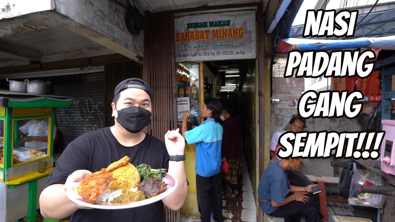 NASI PADANG GANG SEMPIT, HAMPIR GA BISA LEWAT CUY!!!