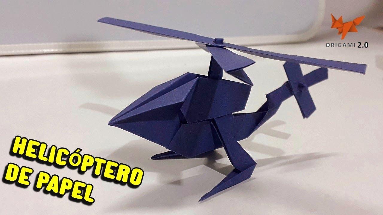 Cómo Hacer Un Helicóptero De Papel Helicopter Papper Origami Youtube