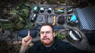 BUSHCRAFT SURVIVAL: Backpack Loadout Gear for Overnighter | Fritz Meinecke