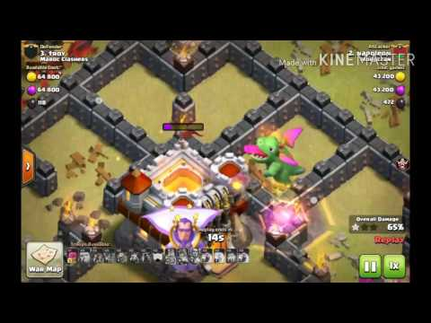 Clash of clans - clan Morocco vs clan moroco المغرب ضدد المغرب
