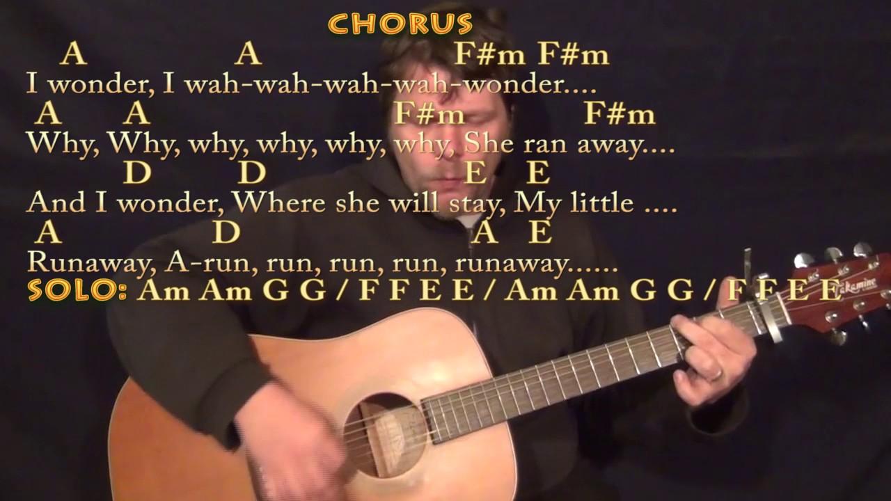 Runaway Del Shannon Strum Guitar Cover Lesson With Chordslyrics