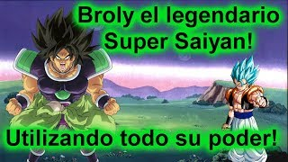 The legendary Super Saiyan Broly in action! Roblox: Anime Cross 2