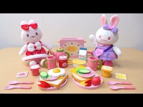 うさももちゃん モーニングトースター Make a Scrumptious Breakfast! Toy Toaster Set!