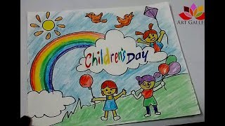 How to Draw Children Day Easy Drawing