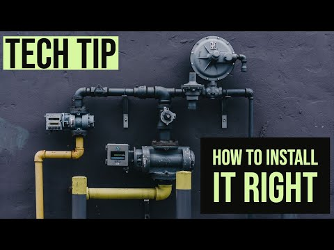 The right way to install a gas pressure regulator  YouTube