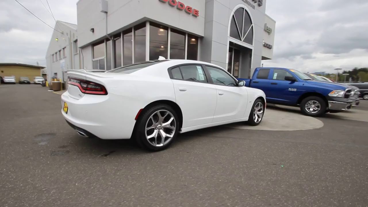 2016 dodge charger rt bright white clearcoat gh228155 mt vernon skagit - White Dodge Charger