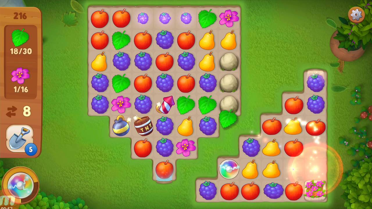 Gardenscapes Level 216 Solution Tips Strategy And Walkthrough Gogamerez