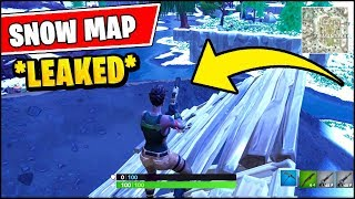 *NEW* Fortnite SEASON 7 SNOW MAP *LEAKED* (Snow Storm Event Update)