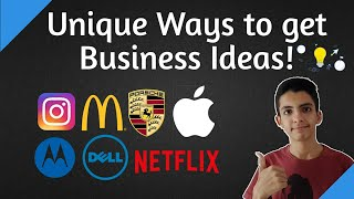 6 Unique ways to get Great Business Ideas!💡(Hindi)