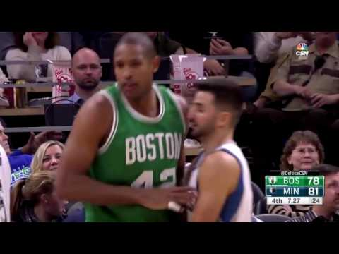 Boston Celtics 17-0 run vs Minnesota Timberwolves (11/21/2016)