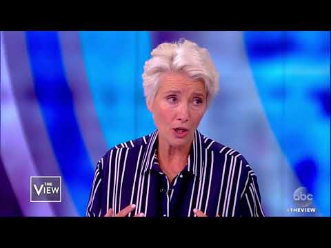 Emma Thompson Talks Worrying About Kids, Political Activism In UK, US | The View