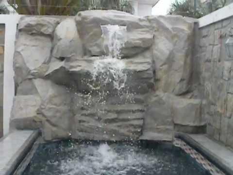 Cascada en piedra sintetica youtube for Cascadas de piedra