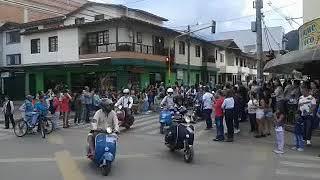 Desfile de autos antiguos La Ceja Antioquia 2018.