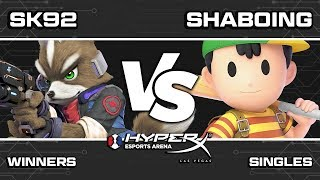 Wednesday Whiffs: SK92 (Fox/Donkey Kong) vs Shaboing (Ness) - Winners Round 2