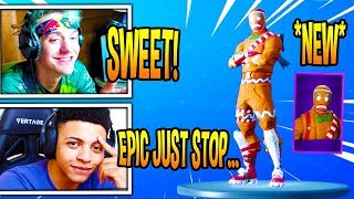 "STREAMERS REACT ""MERRY MARAUNDER"" SKIN RETURNING! Fortnite EPIC & FUNNY Moments"