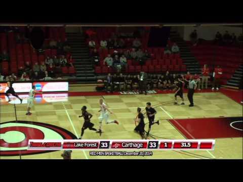 Carthage Men's Basketball vs. Lake Forest 2015_12_20