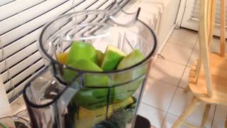 How To Make Green Smoothie- Pineapple Banana Granny Smith Apple - Vitamix 750