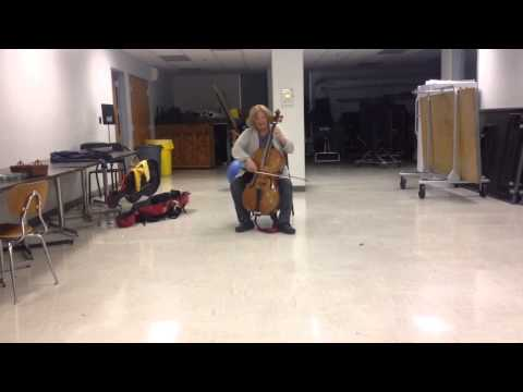 An explosive performance from cellist Angela East...