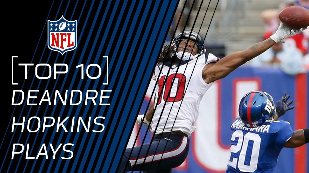 buy popular 7b7c9 4e898 Top 10 DeAndre Hopkins Career Catches...so far! | #TopTenTuesdays | NFL