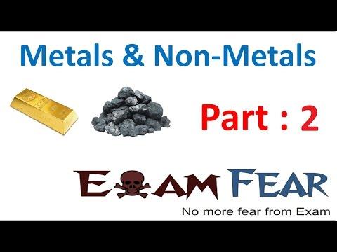Chemistry Metal & Non-Metal Part 2 (Metals) Class 8  VIII