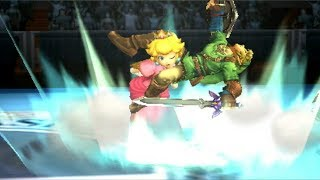KirByX2 (Peach) VS. GirlsAreScary (Link)-Super Smash Bros. 3DS