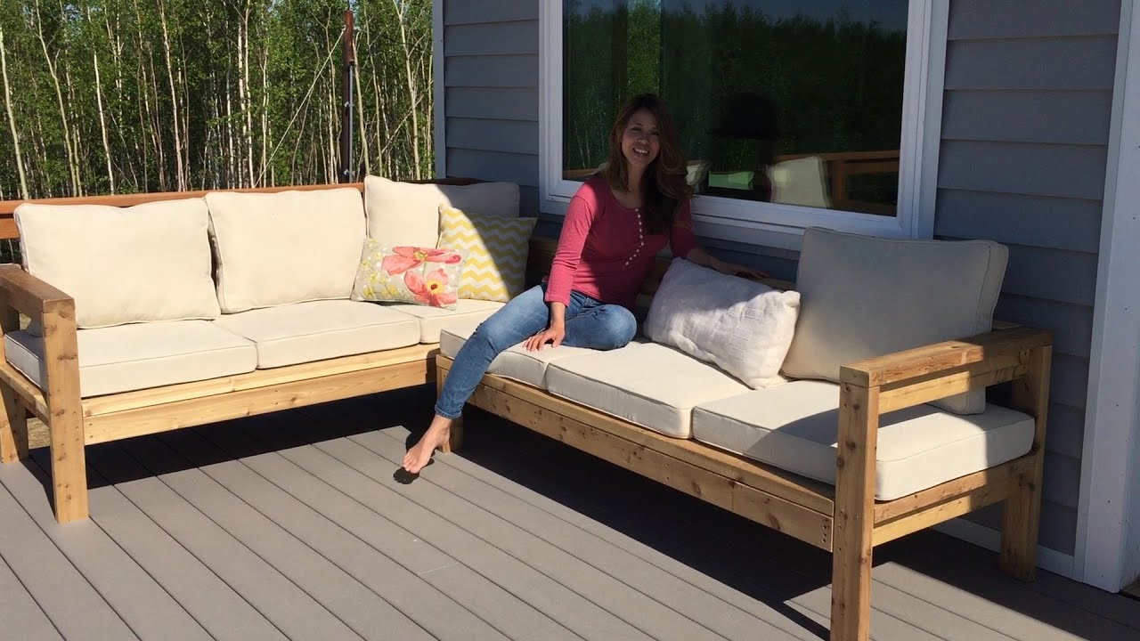 how to build a 2x4 outdoor sectional tutorial youtube With make outdoor sectional sofa
