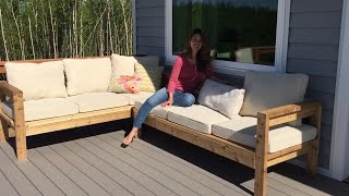 2x4 Outdoor Sectional Tutorial