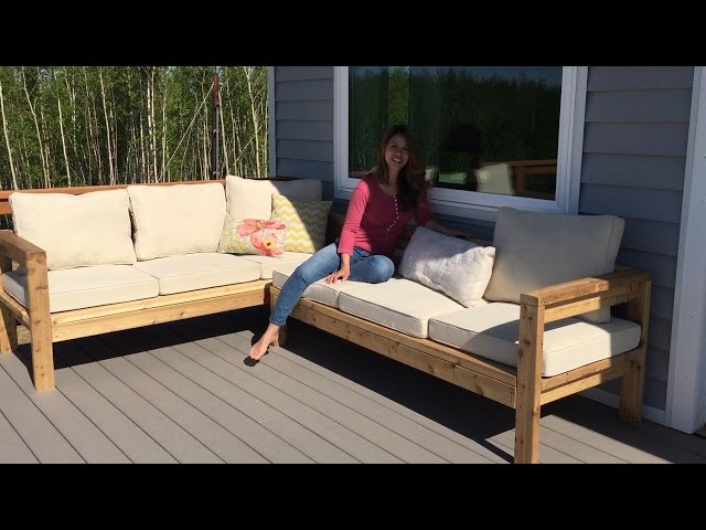 How To Build A 2x4 Outdoor Sectional, Build Patio Furniture Sectional