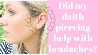 Daith Piercing || Did it help my headaches??