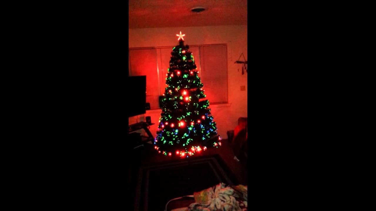 7ft led fiber optic tree