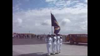 D-Day 70 Anniversary event openning with Color party U.S. Navy