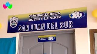 Relanzamiento de la comisaría de la mujer y la niñez en San Juan del Sur en Rivas
