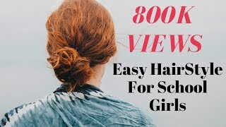 Easy Hairstyle For School Girls - Idea 3-4