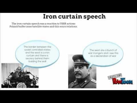 Iron curtain speech and telegrams coldwar