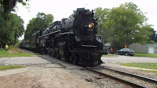 Pere Marquette 1225 Backing into Howell Station 08/18/18