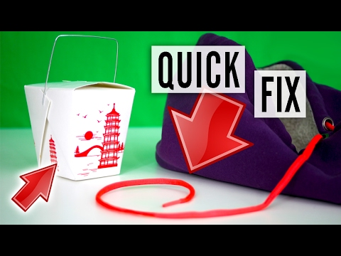 How to fix a drawstring - bag, pants, hoodie string - YouTube