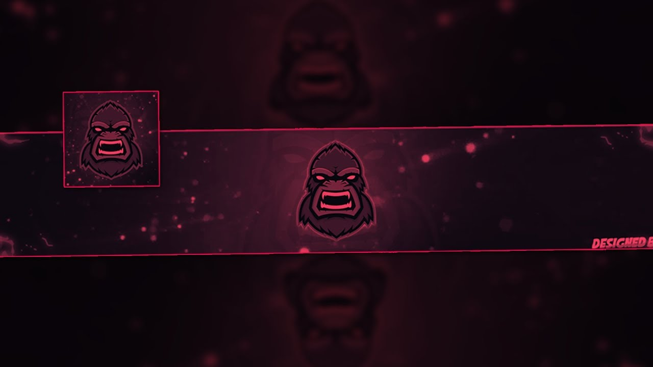 free youtube gaming banner template avatar mascot. Black Bedroom Furniture Sets. Home Design Ideas