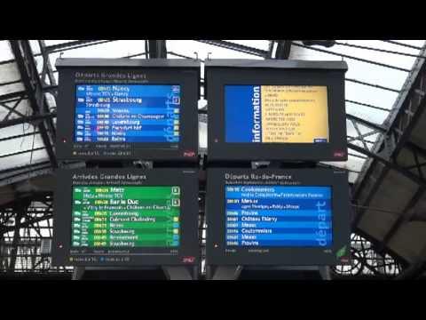 フランス国鉄SNCFパリ東駅の構内放送