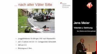 Volumen und der antikoagulierte Patient - Jens Meier