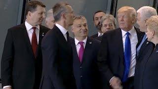 Дональд Трамп оттолкнул Премьер-министра Черногории на саммите НАТО