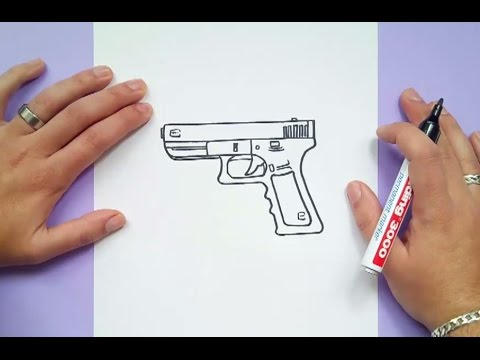 Como dibujar una pistola paso a paso 4 | How to draw a gun 4 - YouTube