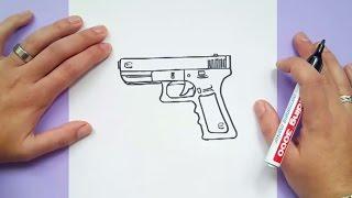 Como dibujar una pistola paso a paso 4 | How to draw a gun 4