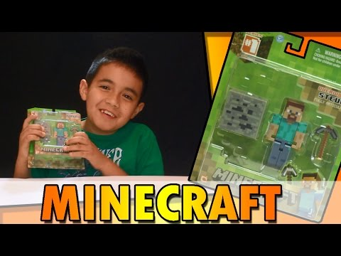 MINECRAFT: STEVE, CREEPER, ZOMBIE (unboxing)