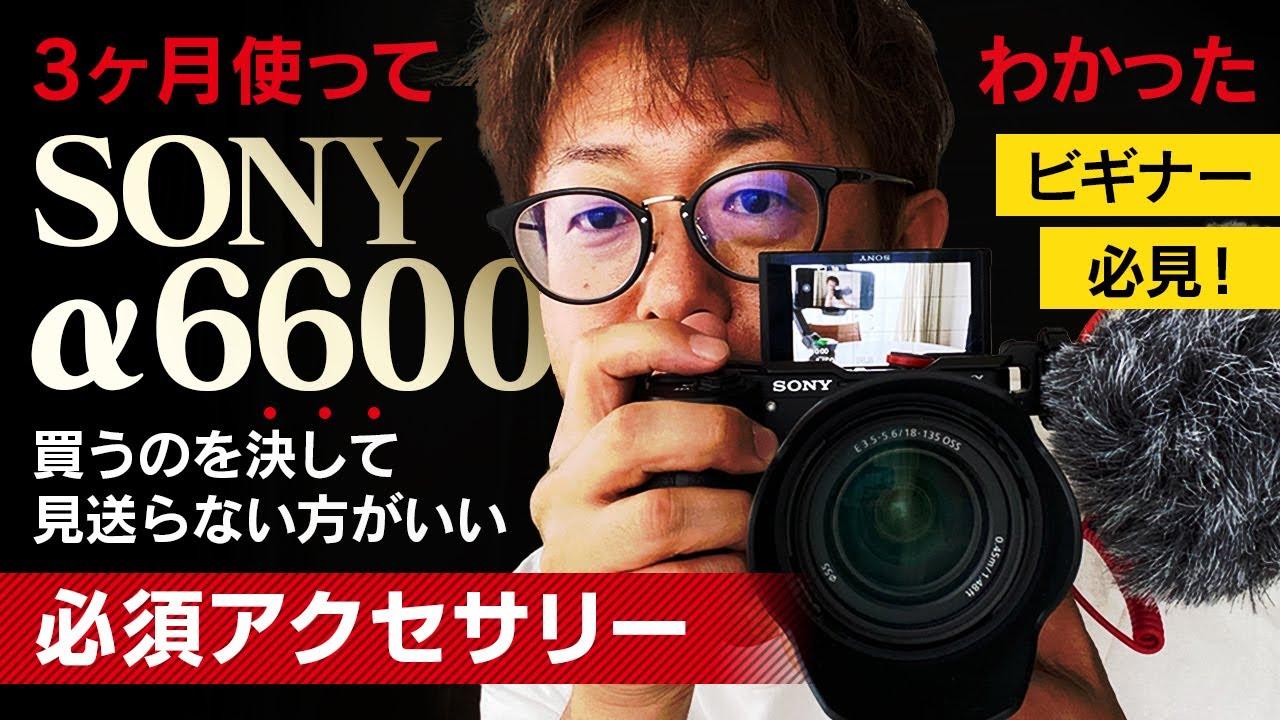 【カメラ】Sony A6600を3ヶ月使ってみて気になった点とそれを解消するアクセサリー